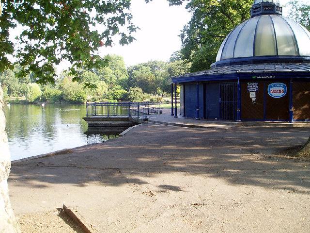 Victoria Park, facing the Pavilion