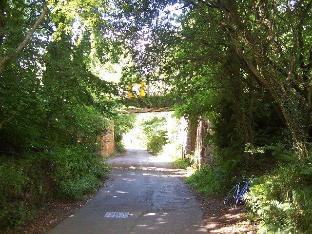 Finnock Bog Road and railway bridge