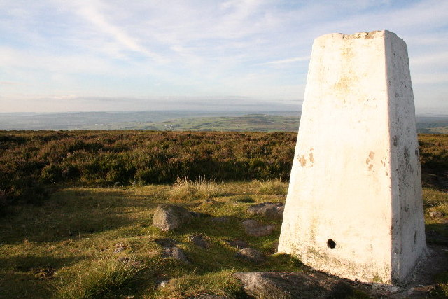 Trig Point above Sheep Stones Edge