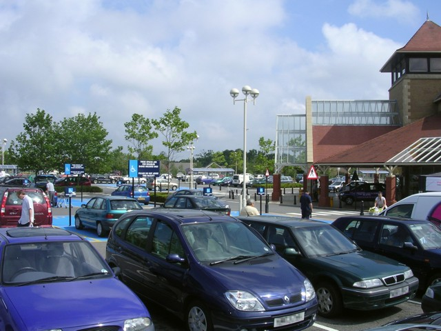 Morrisons supermarket on the western edge of Totton