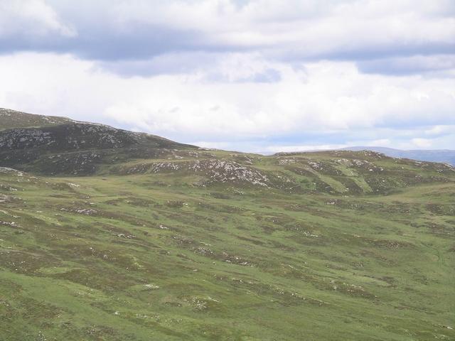 SW slopes of Spirean Beag, 596