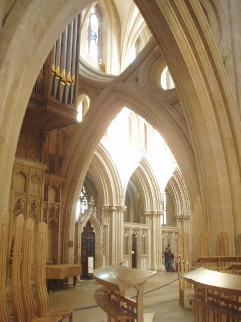 Wells Cathedral interior view