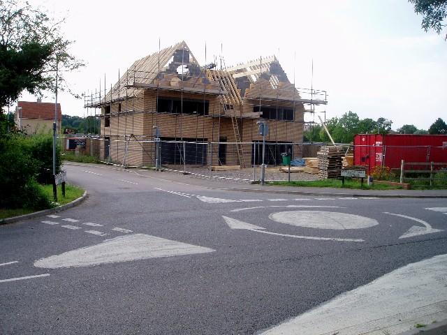 Building the village shop, Highfields