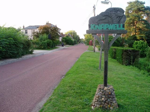 Knapwell village street