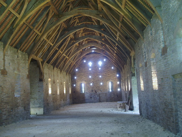 The Medieval barn at Pilton