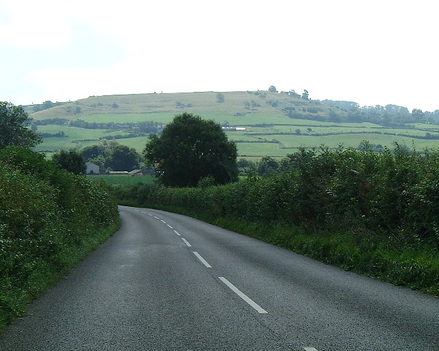 On the Bruton Road looking towards Creech Hill