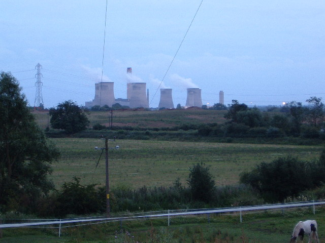 Didcot Power Station from Oday Hill