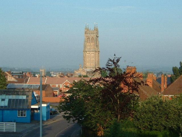 St John the Baptist Parish Church, Glastonbury,  Early in the Morning.