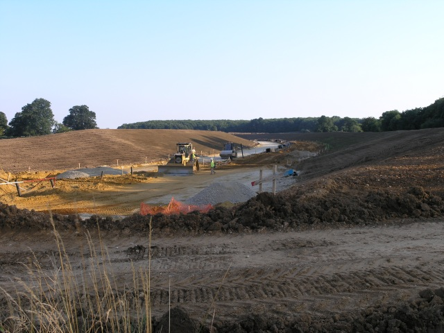 Leybourne & West Malling Bybass Construction Site