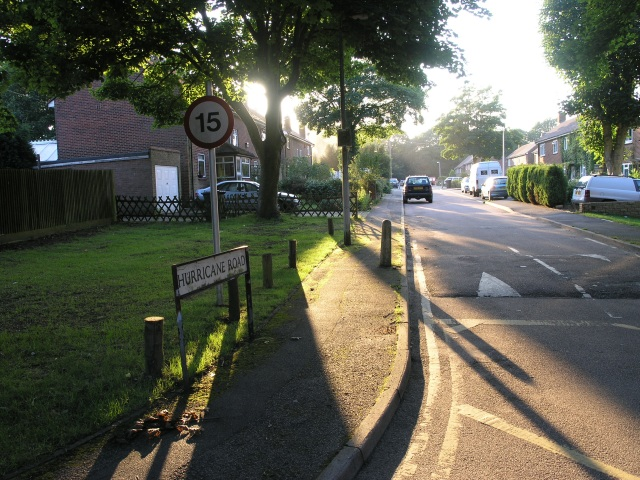 Entrance to Hurricane Road, King's Hill