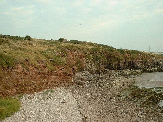 Rock strata at Heysham Head