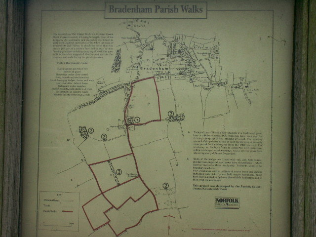 Parish Walks map, Bradenham
