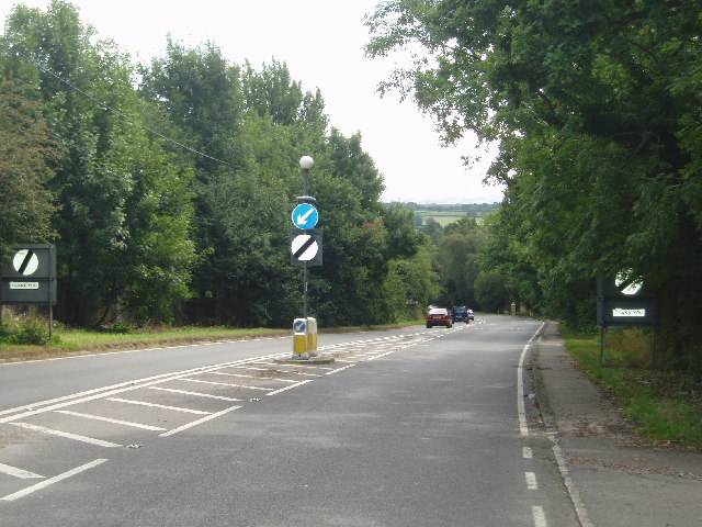 The A272 looking down Scaynes Hill