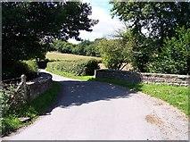 SO7349 : The bridge over Cradley Brook by Bob Embleton