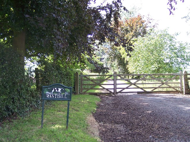 Entrance gates to Winthill Farm