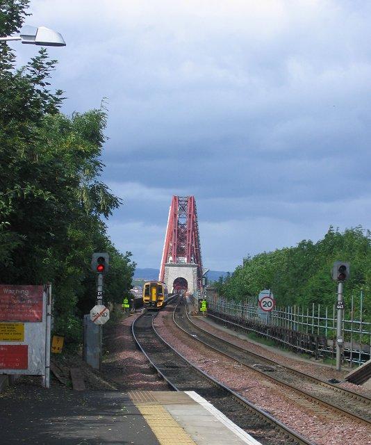 Forth Bridge from Dalmeny Station.