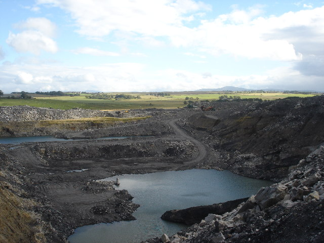 Opencast coal mine S Lanarkshire