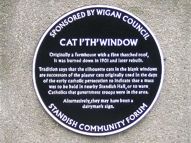 Cat I'th'Window Plaque