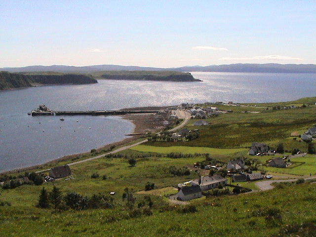 Uig Bay from unclassified road leading down to the harbour