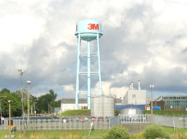 Water Tower at the 3M factory, Gorseinon