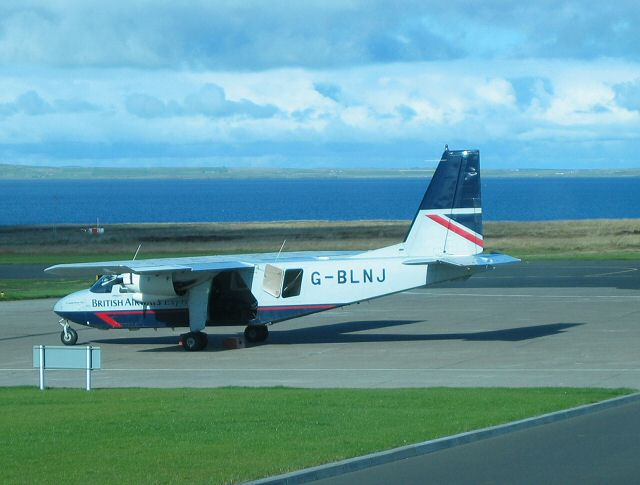 Islander aircraft at Kirkwall Airport