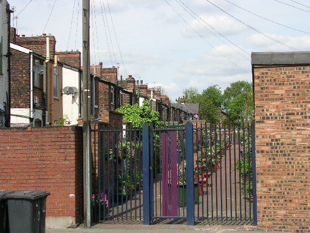 Gated Entry. Langworthy, Salford