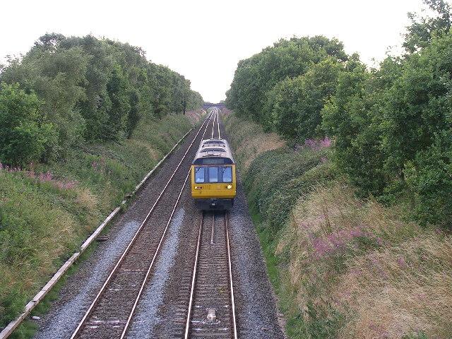 Railway crossing Glazebrook Moss