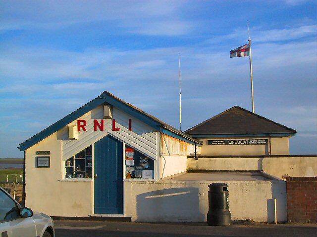 Lytham RNLI station at sunset