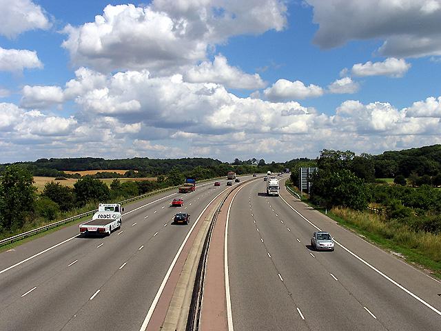 M4 from Oareborough Lane: Oare