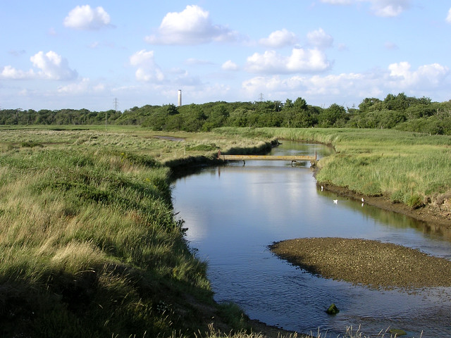 Dark Water river and marsh, Lepe Country Park