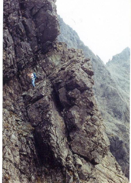 Collies Ledge on Sgurr Mhic Choinnich Isle of Skye