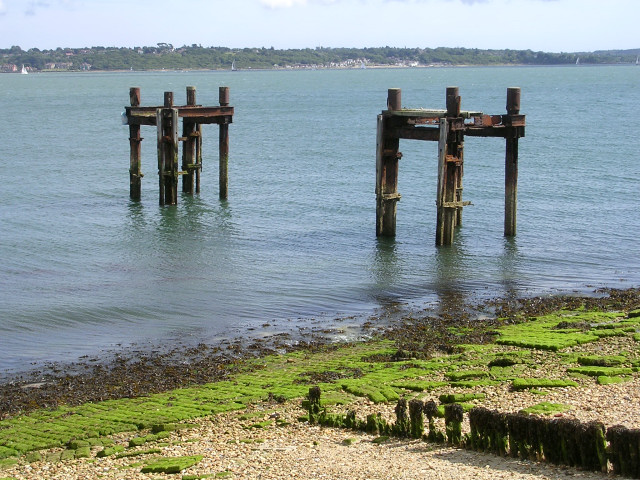 Second World War relics at Lepe Country Park
