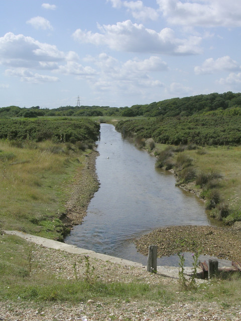 Drainage channel, North Solent National Nature Reserve, Lepe