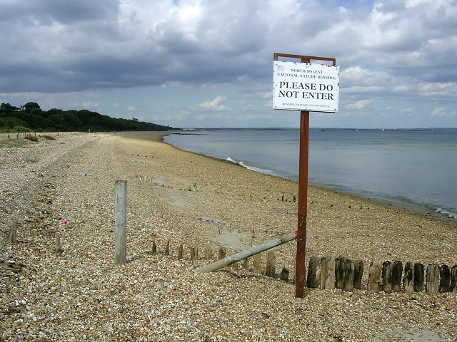 North Solent National Nature Reserve, between Lepe and Calshot