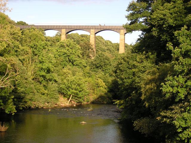 Just upstream from the Pontcysyllte Aqueduct