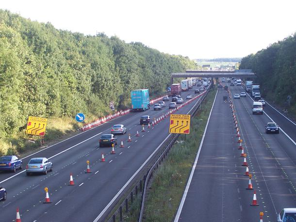 The M6 west of Audley
