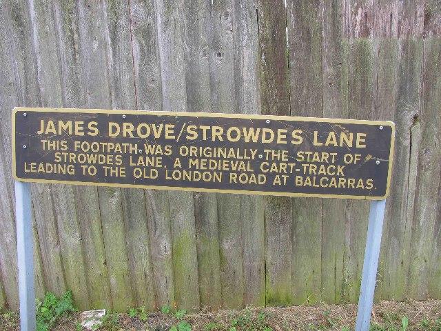 Strowdes Lane, Charlton Kings, Information Board