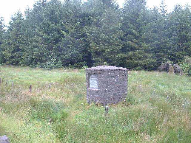 Postal Memorial near Moffat