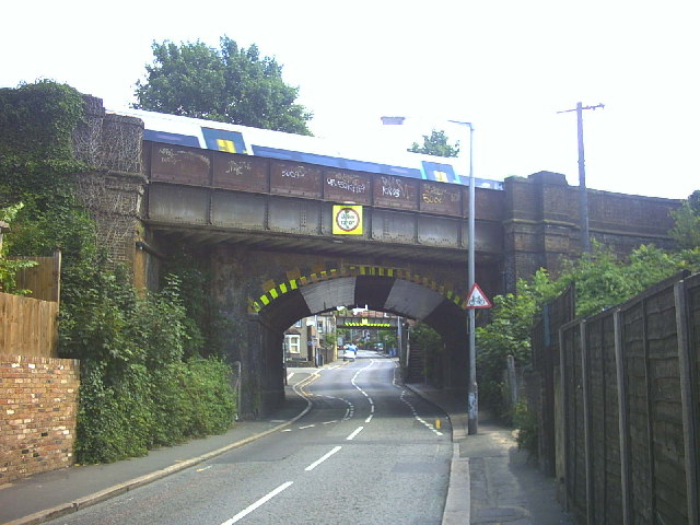Low railway bridges over Selsdon Road, Croydon.