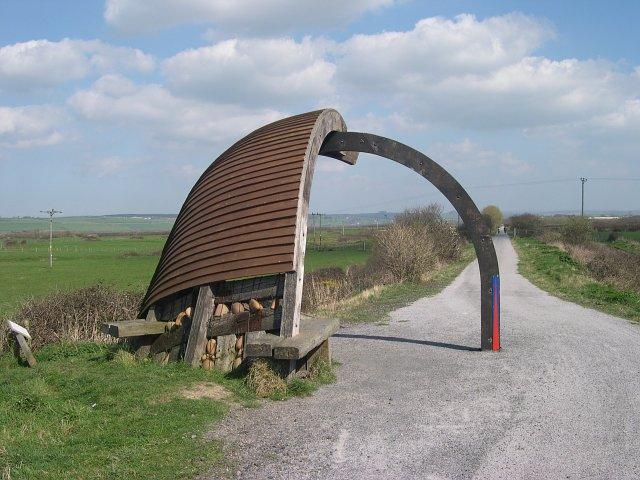 """A """"clinker built"""" shelter"""