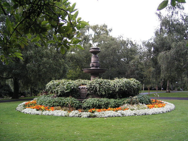 Fountain in Priory Park Hornsey