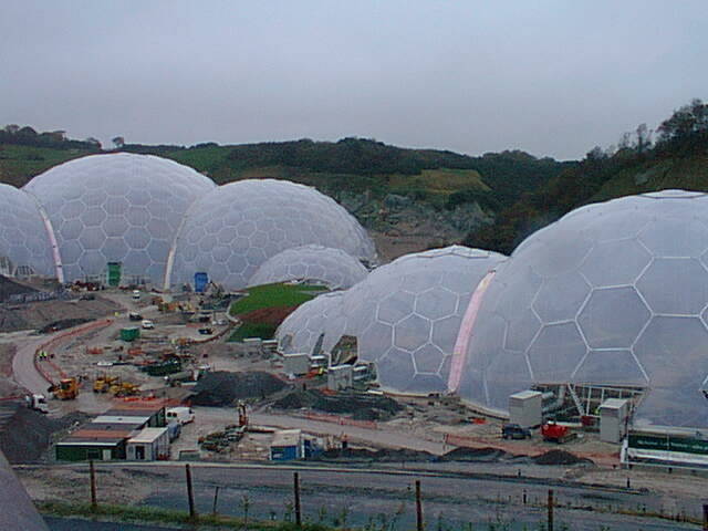 Eden Project under construction