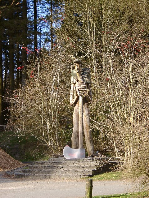 Ancient Forester, by David Kemp, Grizedale Forest, Cumbria