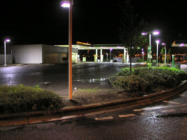 Warwick Motorway Services by night