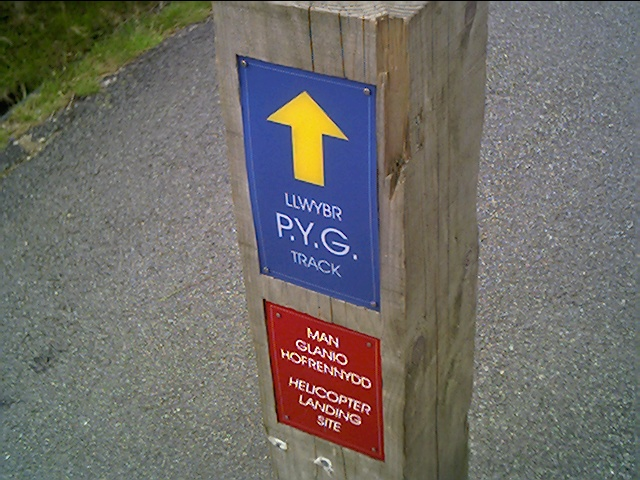 The Start of the PYG Track at Pen-Y-Pass Car Park