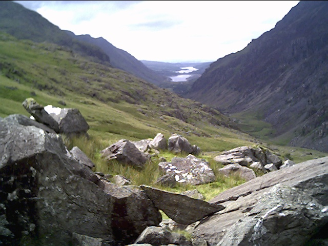 PYG Track looking towards Llyn Padarn and Llanberis