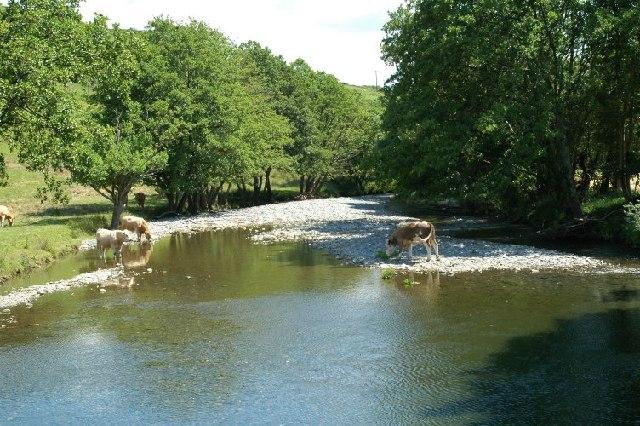River Dyfi at Dyfi Jubilee Bridge