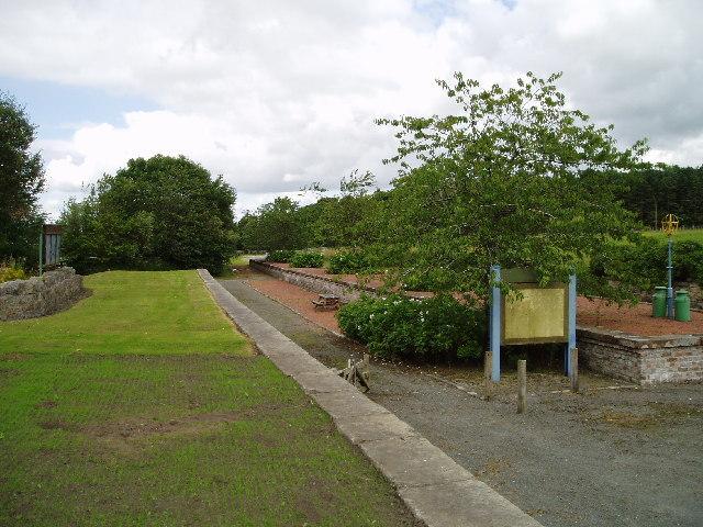 Leadburn railway platforms