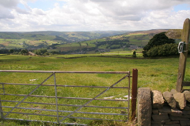 Footpath above Luddenden