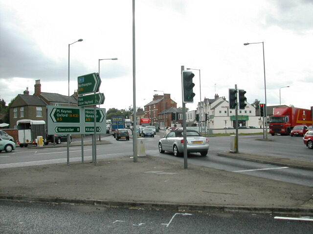Junction of A5 and A45